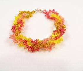 Sun Kissed Bracelet Pattern, Beading Tutorial in PDF