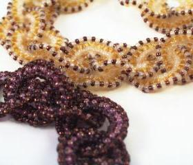 Embracing Circles Bracelet Pattern, Beading Tutorial in PDF