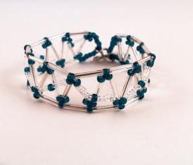 American Inspired Bracelet Pattern, Beading Tutorial in PDF
