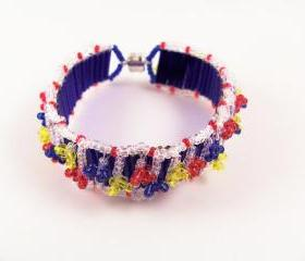 Tiny Flowers Bracelet Pattern, Beading Tutorial in PDF
