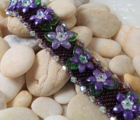 English Garden Bracelet, Beading Tutorial in PDF