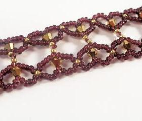 Little Hearts Bracelet Pattern, Beading Tutorial in PDF