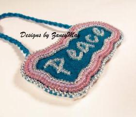 Signs of the Season 'Peace' Ornament, Beading Tutorial in PDF