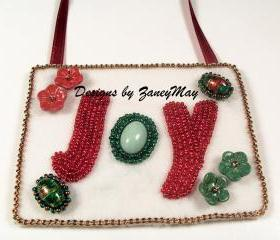 Signs of the Season 'Joy' Ornament, Beading Tutorial in PDF