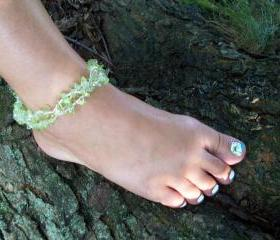 By The Sea Beaded Bracelet/Anklet Pattern, Beading Tutorial in PDF