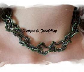 Ruffle Necklace Pattern, Beading Tutorial in PDF