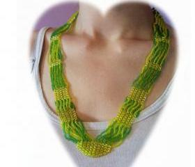 Twist Necklace, Beading Tutorial in PDF