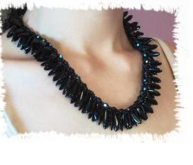 Dark Shards Necklace, Beading Tutorial in PDF