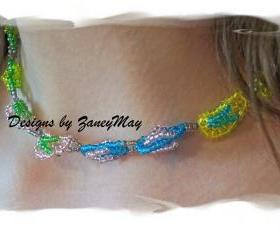 Flip Flop Necklace Pattern, Beading Tutorial in PDF