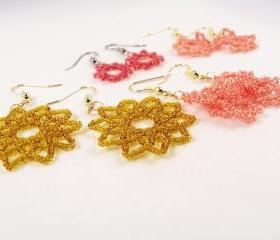 Summer Sun Earring Patterns, Beading Tutorial in PDF
