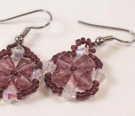 Flower Earring Pattern, Beading Tutorial in PDF