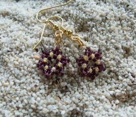 Snowflake Earring Patterns, Beading Tutorial in PDF