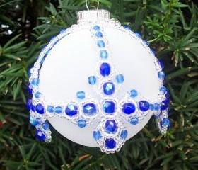 Cross Ornament Cover, Beading Tutorial in PDF
