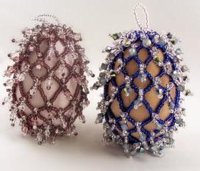 Easter Elegance Beaded Egg Pattern, Beading Tutorial in PDF
