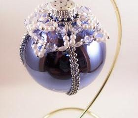 Elegant Christmas Ornament Pattern, Beading Tutorial in PDF