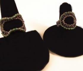 Circle & Ruffle Ring Pattern, Beading Tutorial in PDF