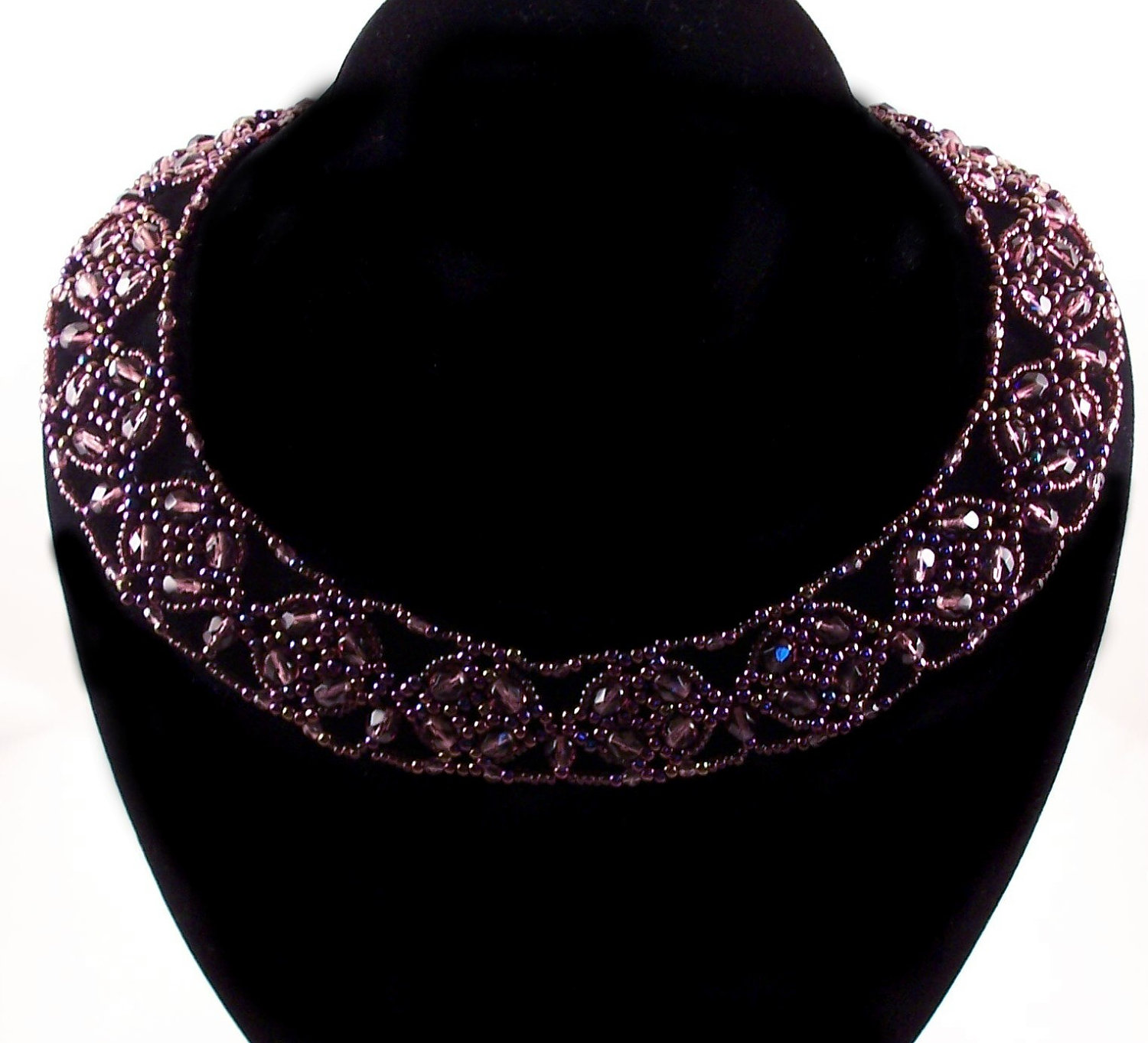 polished cluster collar necklace pattern beading