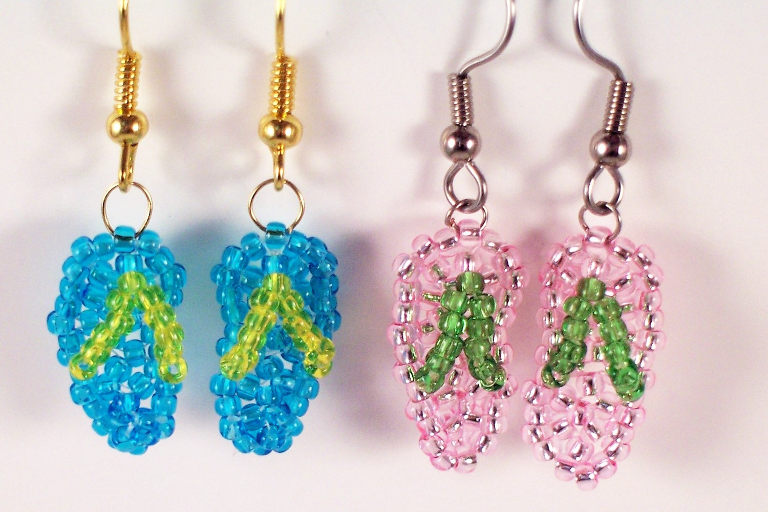 Flip Flop Earring Pattern, Beading Tutorial In PDF on Luulla